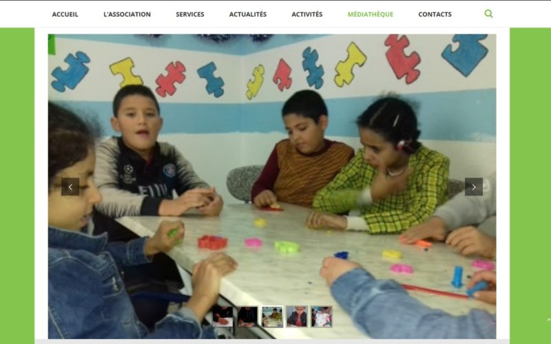 Capture Site Web d'association d'autisme de Kasserine 5